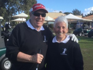 Doug Golding and his caddie Dilys Hughes
