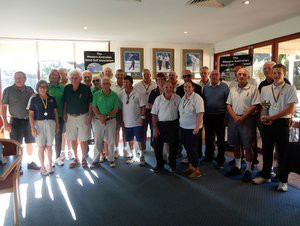 All golfers and caddies at the 2017 WA Blind Golf Open